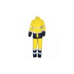 Conjunto impermeável de alta visibilidade Amarelo / Azul Industrial Starter 01800