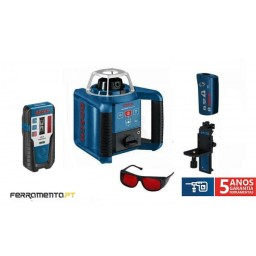 Nível Laser Giratório 300m Bosch GRL 300 HV + RC1 + WM4 + LR1