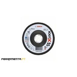 Disco de Lamelas X571 115mm x 80 Grão X-LOCK Bosch 2608619199