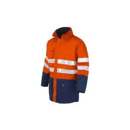 Casaco Impermeável Laranja / Azul Industrial Starter 04638047