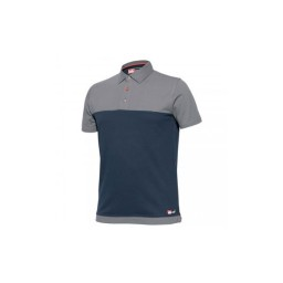 Camisa Polo Bicolor Azul / Preto Industrial Starter 8774