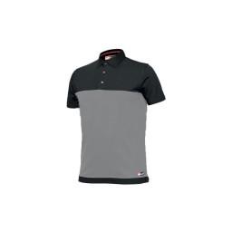 Camisa Polo Bicolor Cinzento Industrial Starter 8774