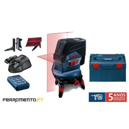 Nível Laser de linha Bosch GCL 2-50 C + RM3 + RC2 Professional