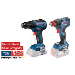 Kit Combo Bosch GDX 18V-200 + GSR 18V-55 Professional