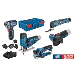 Kit Combo 5 Máquinas a Bateria Bosch Professional