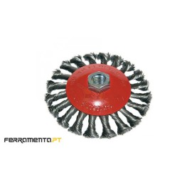 Catrabucha circular entrançada inox M14x115mm Macfer 026.0060