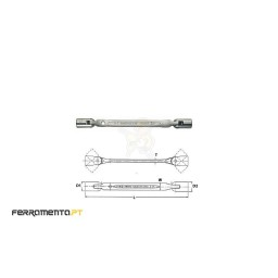 Chave Flexível 12 Pontos 10x11 mm Teng Tools 651011