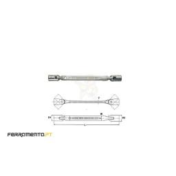 Chave Flexível 12 Pontos 8x9 mm Teng Tools 650809