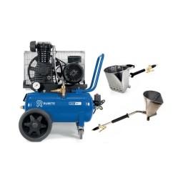 Compressor de Reboco 24+24L Rubete 24 R2 c/ Kit de Pistolas