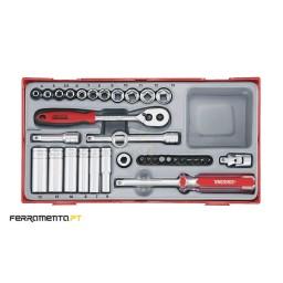 Conjunto de chaves de caixa 1/4'' Teng Tools TT1435