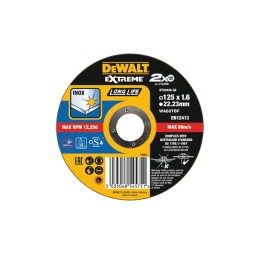Disco De Corte Plano P/ Aço Inox 125x1.6mm Dewalt DT43936-QZ