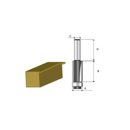 Fresa p/ Painéis c/ Rolamento 6mm Makita D-09472