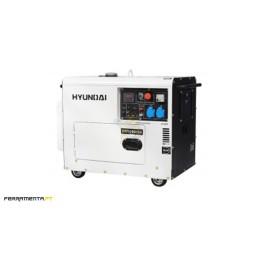 Gerador Diesel Monofásico 5 kW Hyundai DHY6000SE