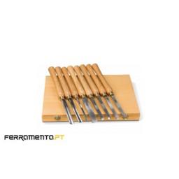 Kit 8 ferramentas de tornear madeira Holzstar 5931011