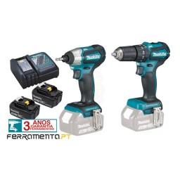 Kit Combo 18V DTD155Z + DHP483Z Makita DLX2221JX2