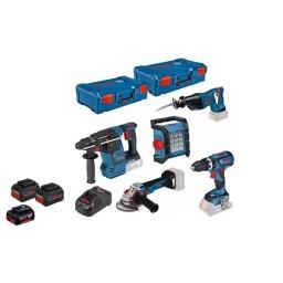 Kit Combo de 5 Máquinas a Bateria 18V Bosch Professional