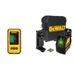 Kit Nível Laser Verde DW088CG + Recetor DE0892G DeWalt CPROF471