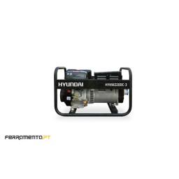 Motosoldador Gasolina Trifásica 8,0 kVA Hyundai HYKW220DC-3