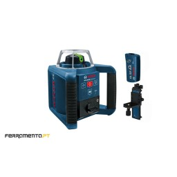 Nível Laser Giratório 300m Verde Bosch GRL 300 HVG + RC1 + WM4