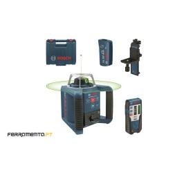 Nível Laser Giratório 300m Verde Bosch GRL 300 HVG + RC1 + WM4 + LR 1G