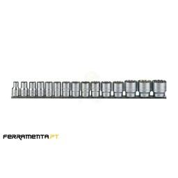 Jogo de Chaves de Caixa 1/2'' 15 Peças Teng Tools M1215MM