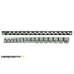 """Jogo 16 Chaves de Caixa 3/8"""" 7-22mm Teng Tools M3816"""