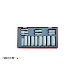 "Conjunto de chaves métricas longas de 3/8"" Teng Tools TT3816"