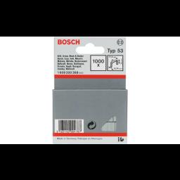 Agrafos Tipo 53 11,4x0,74x14mm 1000un Bosch 1609200368