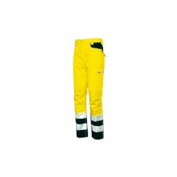 Calças Gordon de Alta Visibilidade Amarelo / Azul Industrial Starter 04510