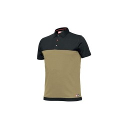Camisa Polo Bicolor Bege / Preto Industrial Starter 8774