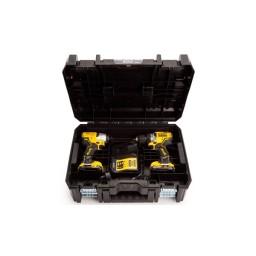 Aparafusadora de Impacto + Berbequim Aparafusador 12V DeWalt DCK2110L2T-QW