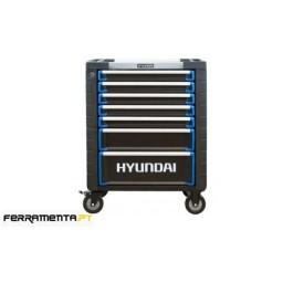 Carro de Ferramentas 7 Gavetas 292 Pcs Hyundai K292-6