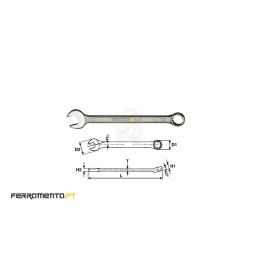Chave de Boca Luneta 12 mm Teng Tools 600512