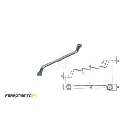 Chave Luneta Métrica 6x7 mm Teng Tools 630607