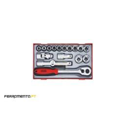 "Conjunto de chaves métricas de 6 pontos 1/2"" Teng Tools TT1218-6"