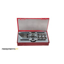 Conjunto de Machos e Caçonetes para abertura de roscas Teng Tools TTTD17