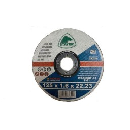 Disco Extrafino Inox Standard 125x1.6mm Stayer 81105