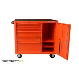 Carro de ferramentas com 6 gavetas e porta Bahco 1470KXL6C