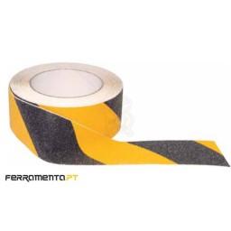Fita Anti-Derrapante Preta/Amarela 10Mx25MM Macfer ASL-02
