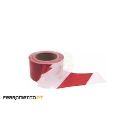 Fita de Sinalização Vermelha/Branca 200mx70mm MacFer SWT-01