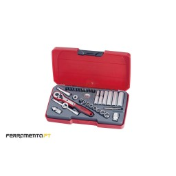 """Jogo 35 Peças 1/4"""" Teng Tools T1435AF"""