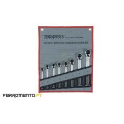 Jogo de 8 Chaves Combinadas com Roquete Teng Tools 6508RMM