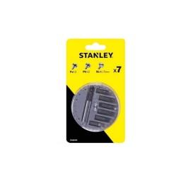 Jogo de Bits (PZ,PH,SL) + Adaptador 7Pcs Stanley STA60500-XJ