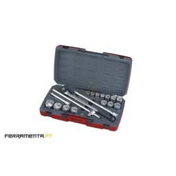 """Jogo De Chaves Caixa Teng Tools T3418-6 3/4"""""""