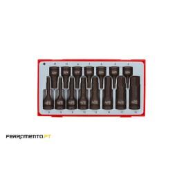 Jogo Ponteiras Hexagonais de Impacto Teng Tools TT9015HX