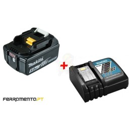 Kit Bateria 18V 5,0Ah BL1850B + Carregador DC18RC Makita