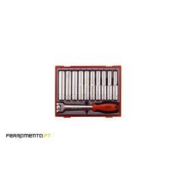 Conjunto de peças métricas de 12 pontos 1/2 Teng Tools TT1211