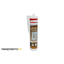 Silicone p/ Portas e Janelas 300ml Translúcido Fischer 505445
