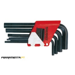 Jogo 9 Chaves Métricas Hex com Suporte Teng Tools 1479MMR