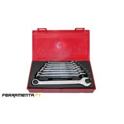 Jogo 8 Chaves Combinadas AF Teng Tools TT3592